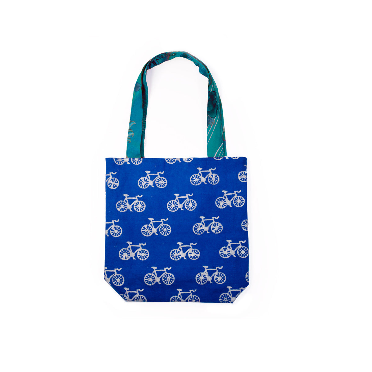 Metallic Bicycle Tote - Cobalt Blue