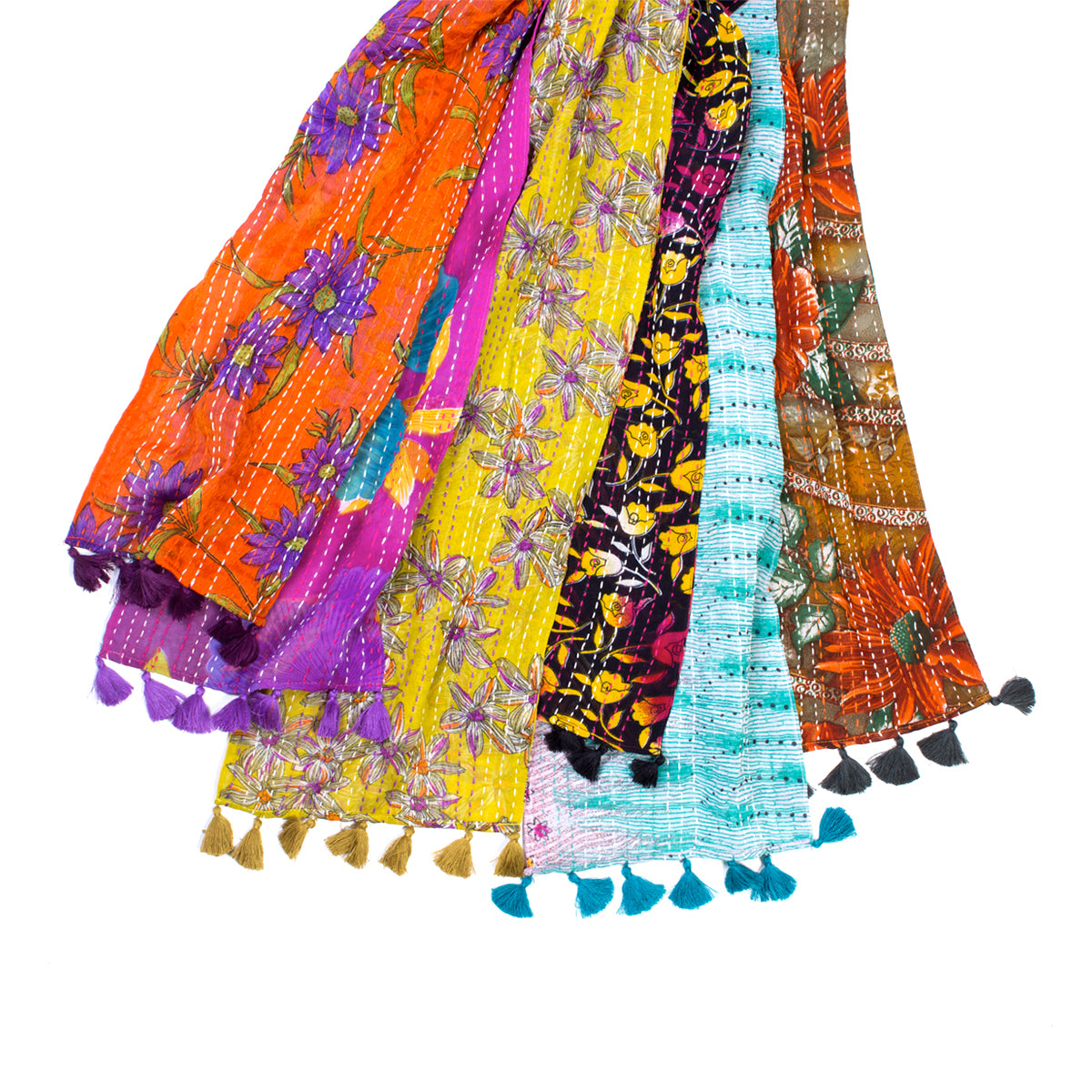 Kantha Sari Scarf - Assorted