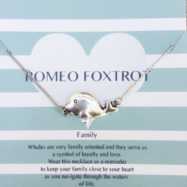 Family Whale Necklace
