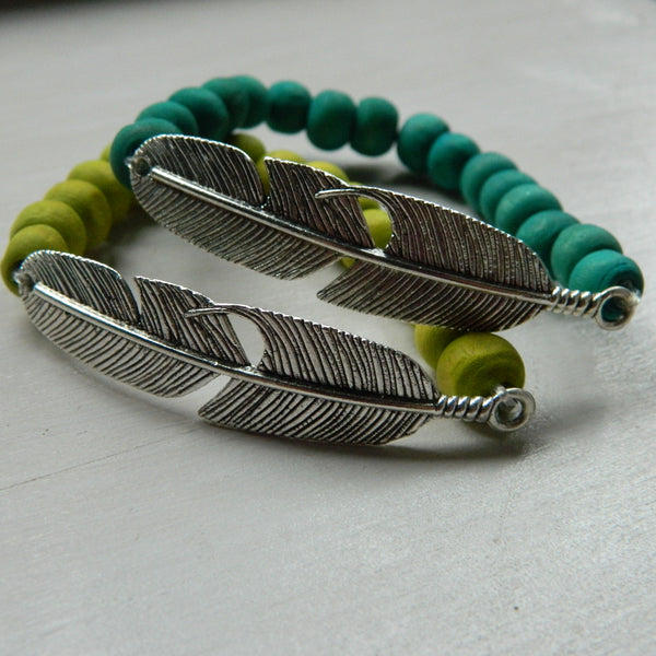 Tropical Feather Bracelet