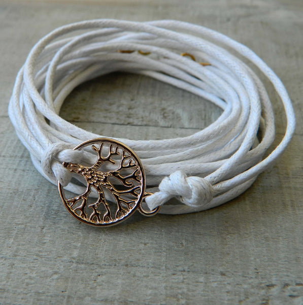 Rose Gold Tree Of Life Wrap