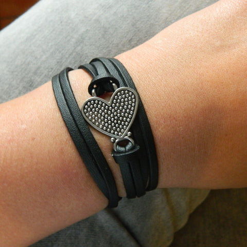 Studded Heart Wrap