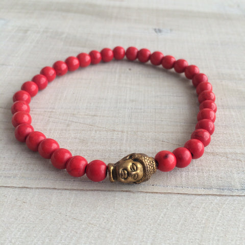 Coral Buddha Bracelet FOR HIM