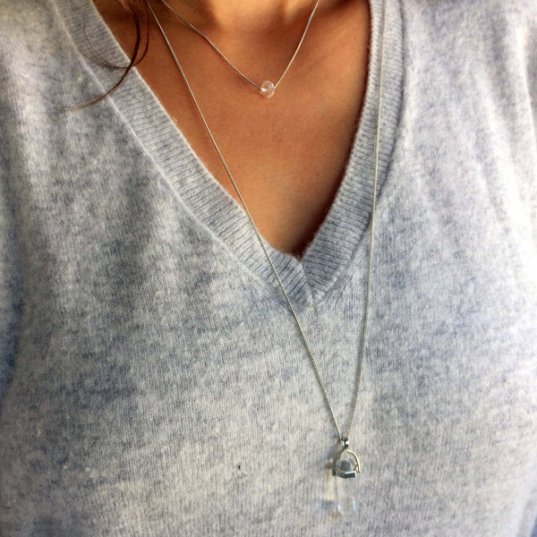 Layering Necklace: Crystal