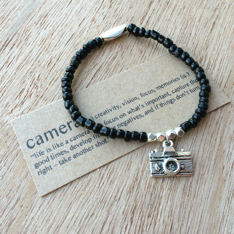 Lucky Charm Collection: Camera Bracelet