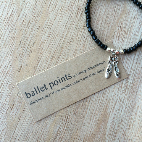 Lucky Charm Collection: Ballet Points Bracelet
