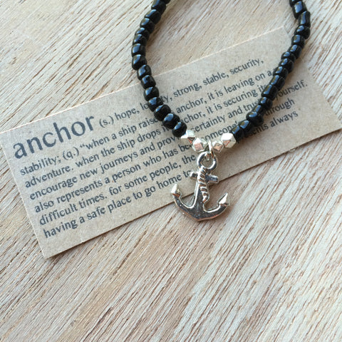Lucky Charm Collection: Anchor Bracelet