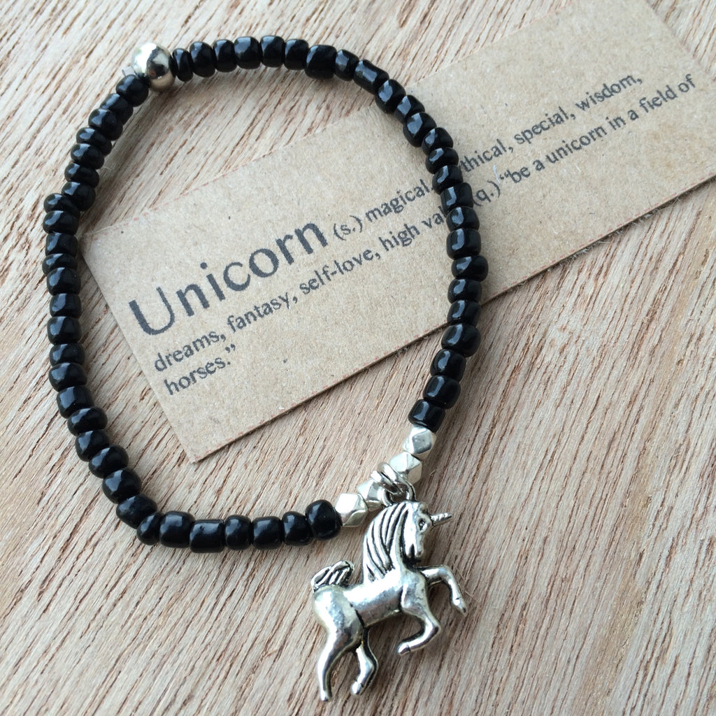 Lucky Charm Collection: Unicorn Bracelet