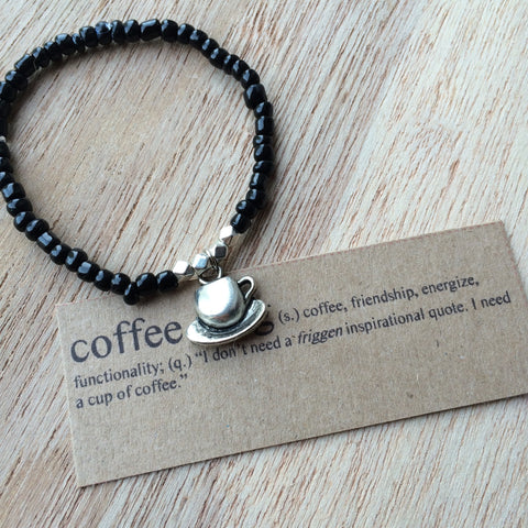 Lucky Charm Collection: Coffee Cup Bracelet