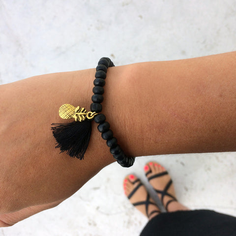 Black Pineapple Bracelet