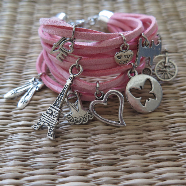 French Girl Charm Bracelet