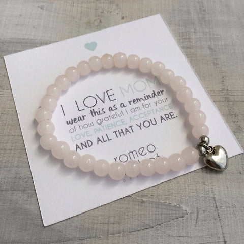 Mother's Day Rose Heart Bracelet