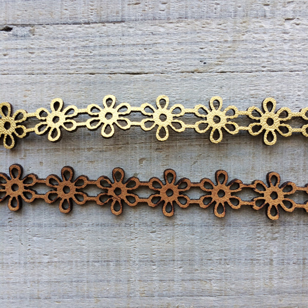 Leather Daisy Choker