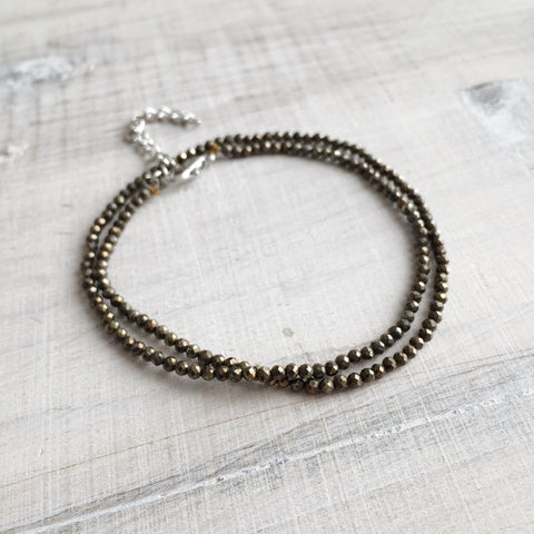 Exclusive Pyrite Crystal Wrap