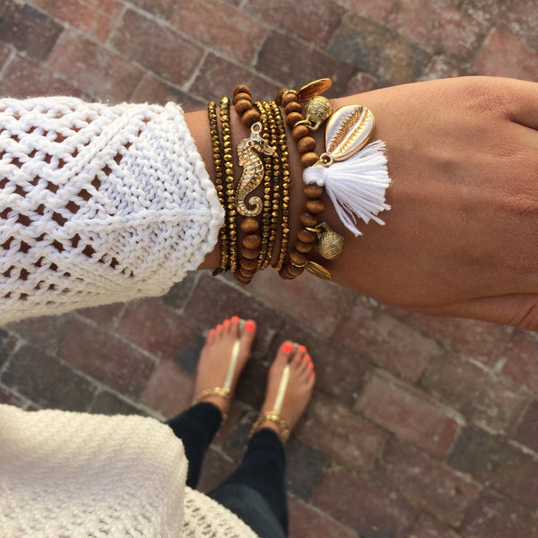 Golden Gypsy Shell Bracelet