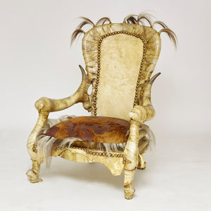 Amazing fantasy  armchair by the amazing french designer Michel Haillard  circa 1970 .