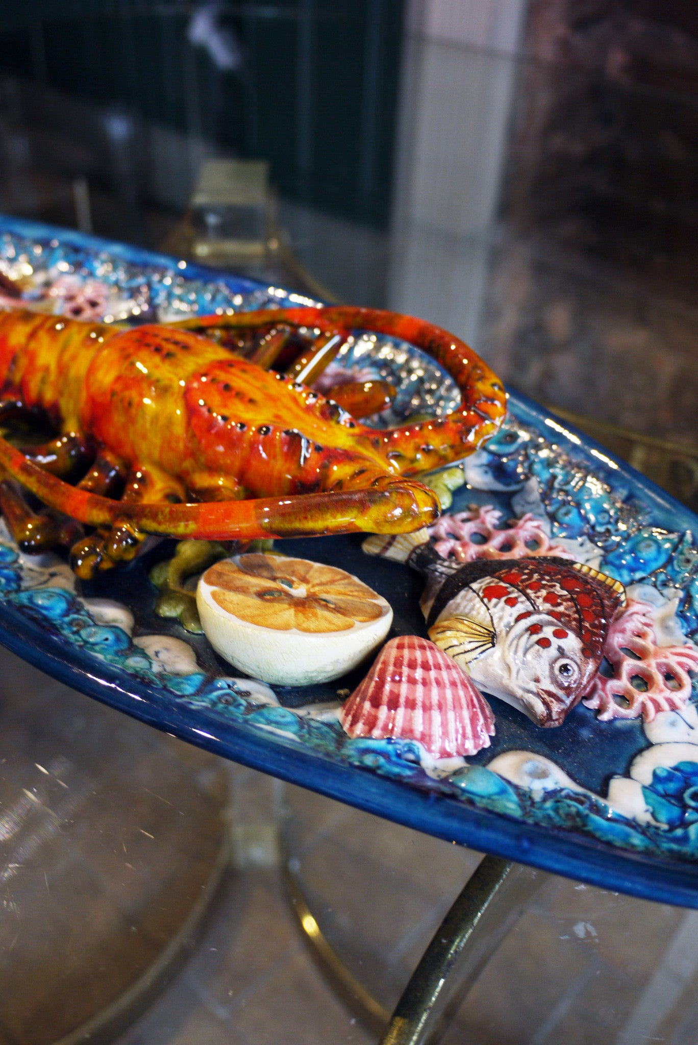 X Ceramic Lobster Plate
