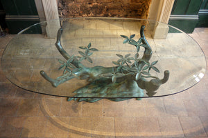 X Sculptural Bronze Tree Form Coffee Table in the style of Willy Daro