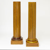 Elegant matched pair of French Charles X display columns .