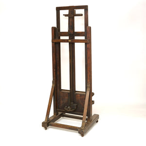 Large early twentieth century studio easel by Reeves and sons .