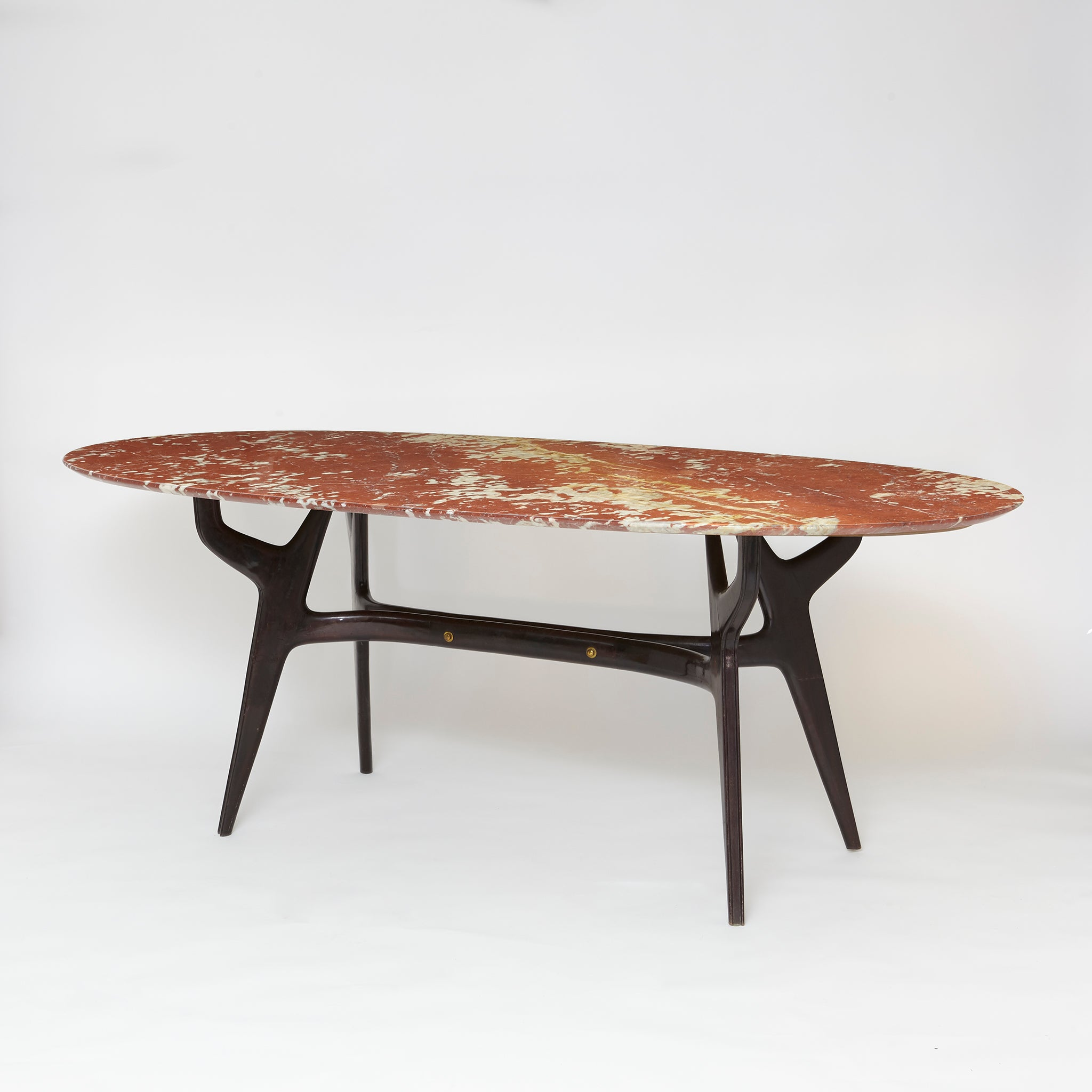 1960's dinning table with marble top by attributed to Ico Parisi.