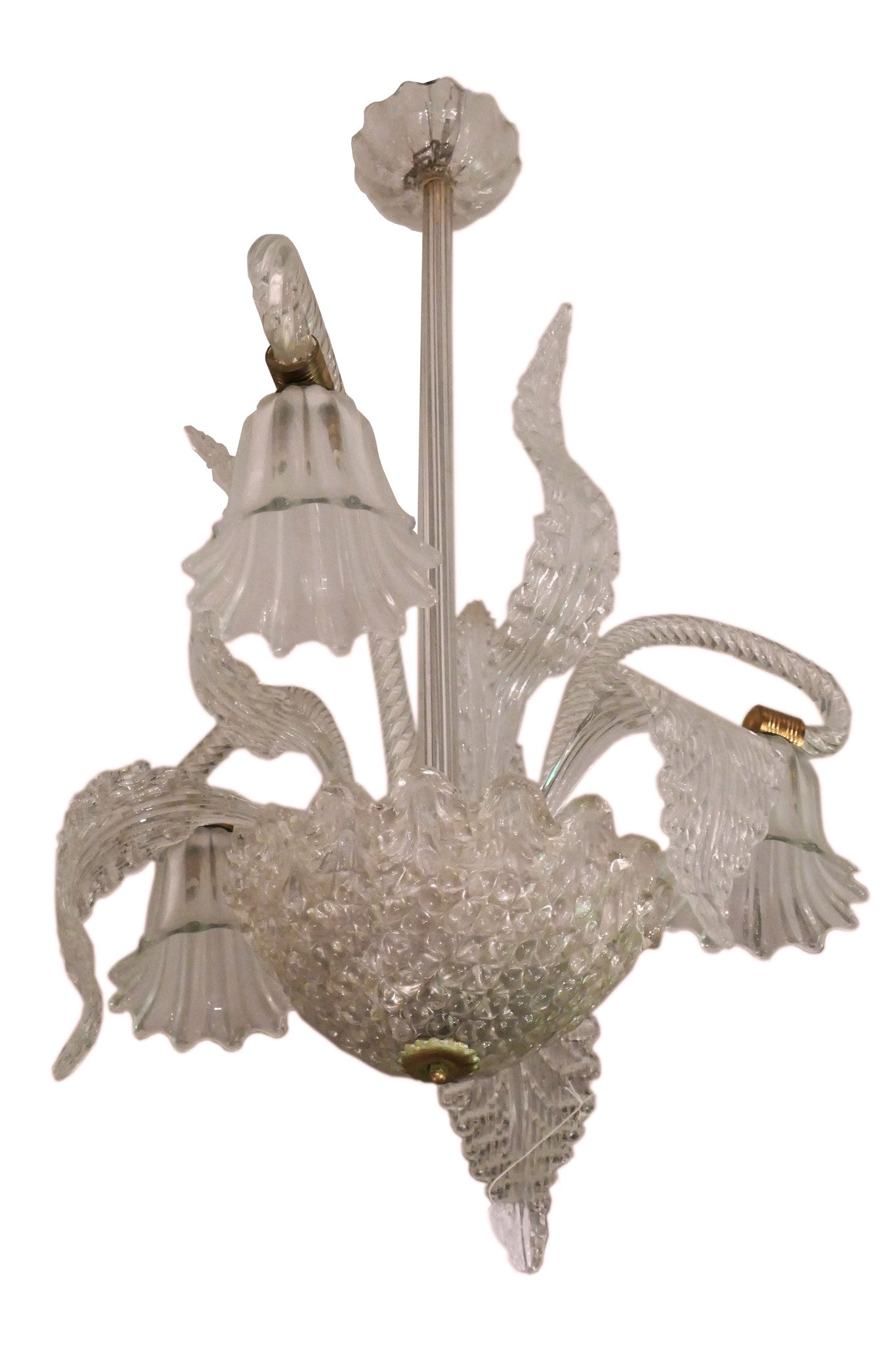 X 1930 s Murano Glass Chandelier