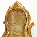 Rococo French gilt gesso 19th century Cheval mirror  .