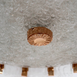 Fabulous large 1970's ceiling light with gold plated fittings.