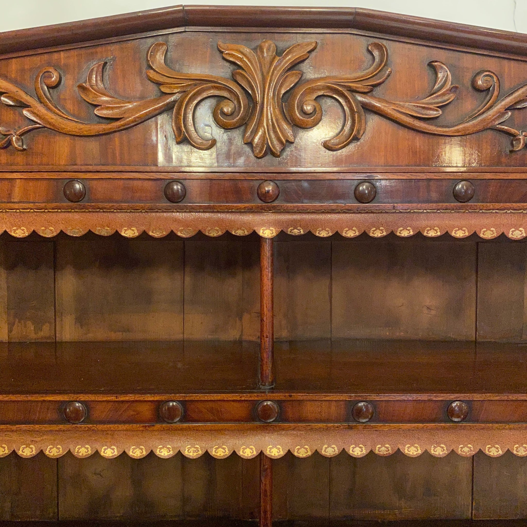 Stunning late regency early Victorian flame Mahogany bookcase .