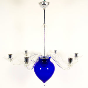 Superb  signed  Murano chandelier by Cenodese .