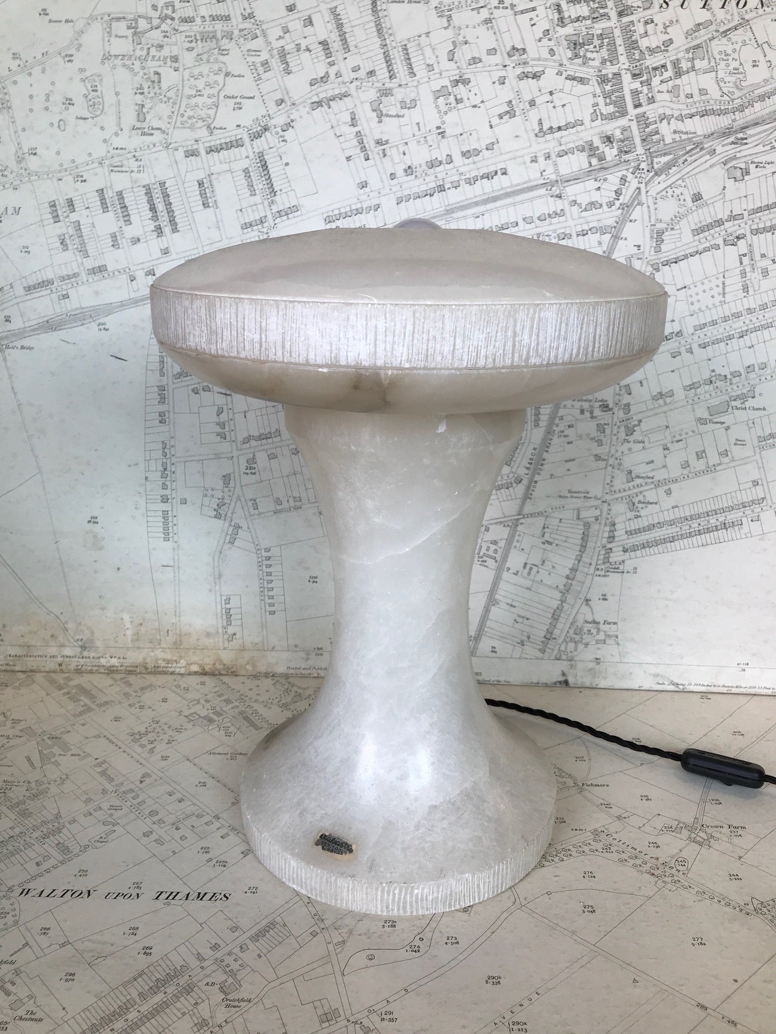 Mid century Italian Alabaster table lamp