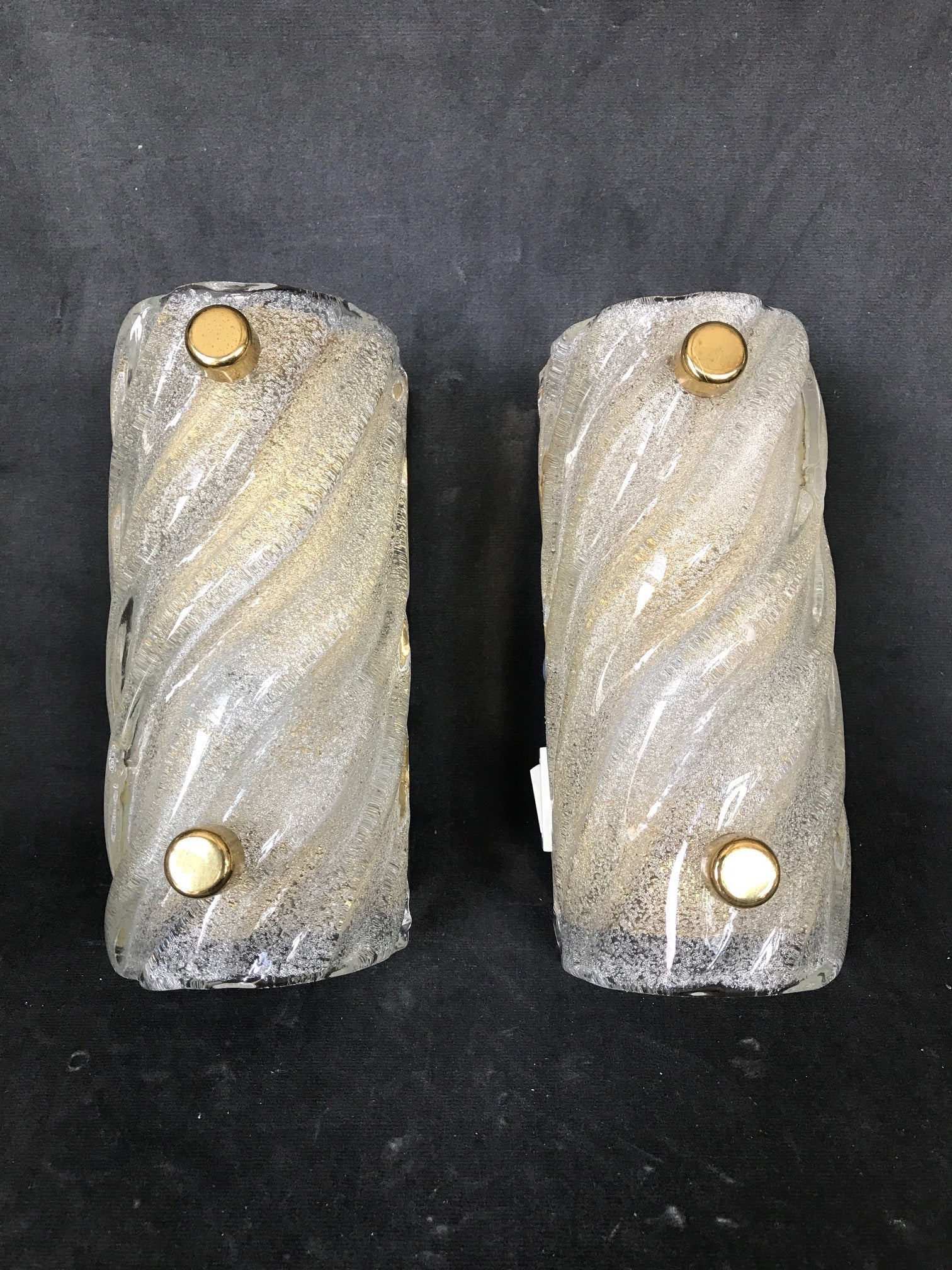 Set of Two Glass Wall Lights