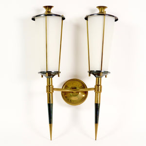 Pair of very elegant 1950's Italian wall lights .
