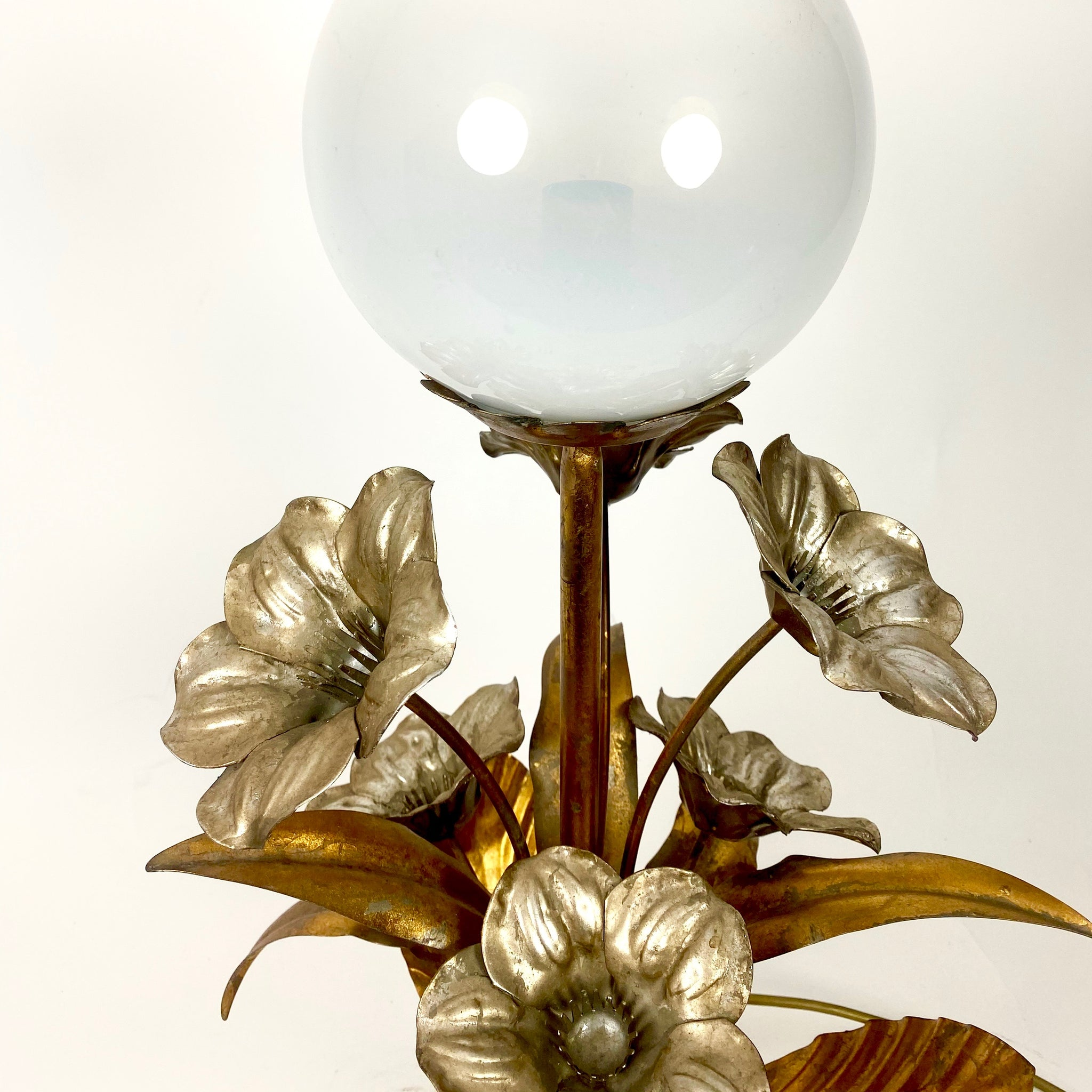 Gold and silver leaf Hans Koghl table lamp.