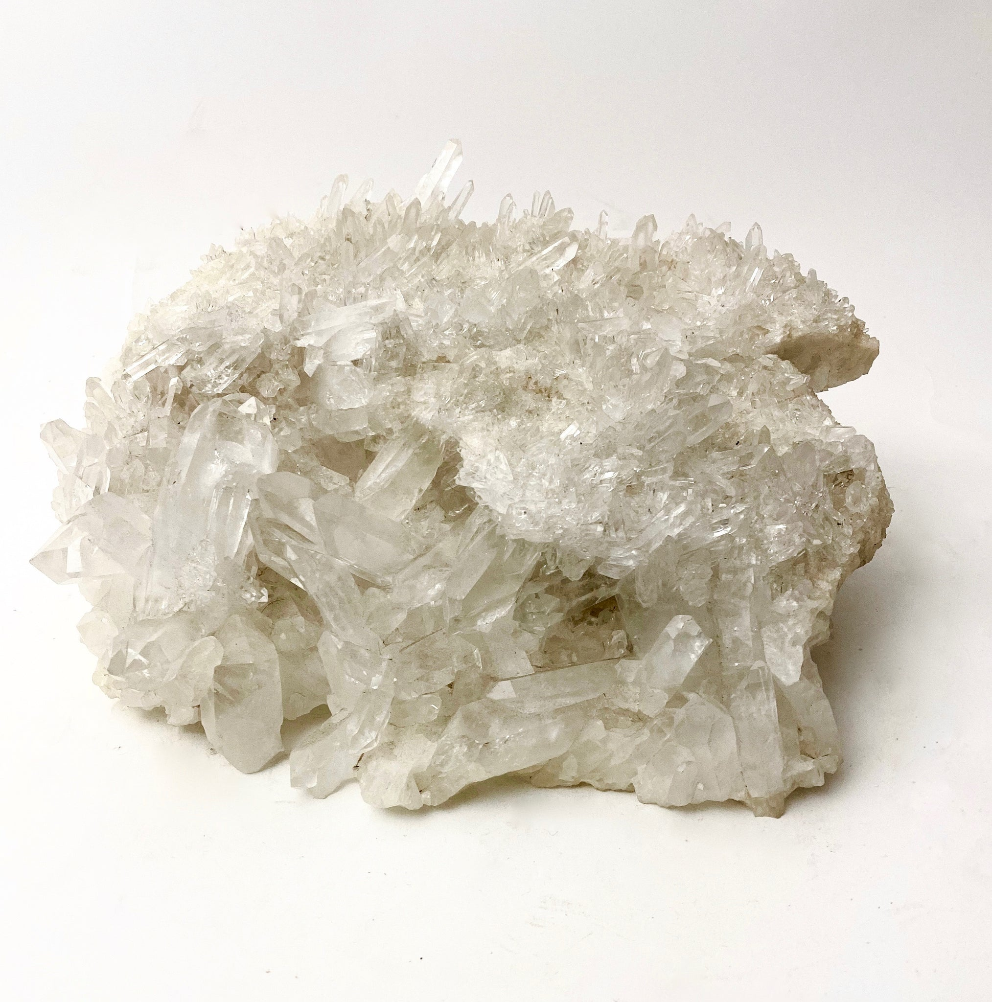 Stunning Brazilian quartz specimen with a multitude of individual points .