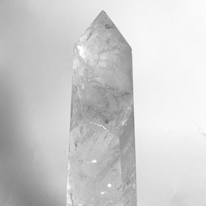 Large solid rock crystal obelisk ( 2 available )