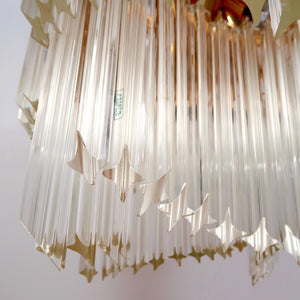 Stunning Large original 1970's Murano glass ceiling light by Vennini.