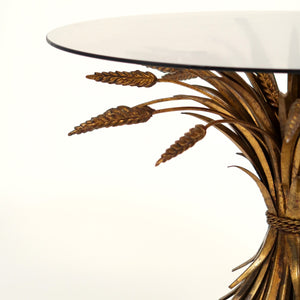 Highly decorative  gold  vintage wheatsheaf table  .
