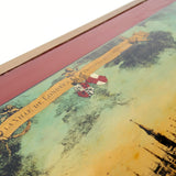 Stunning vintage coffee table featuring a landscape depiction of London .