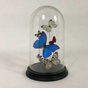 Very decorative wrought iron and glass Italian floor lamp circa 1940.