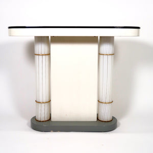 1970's console table with illuminated Murano glass sides.