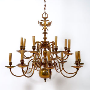 Superb quality pair of large Dutch chandeliers circa 1940 .
