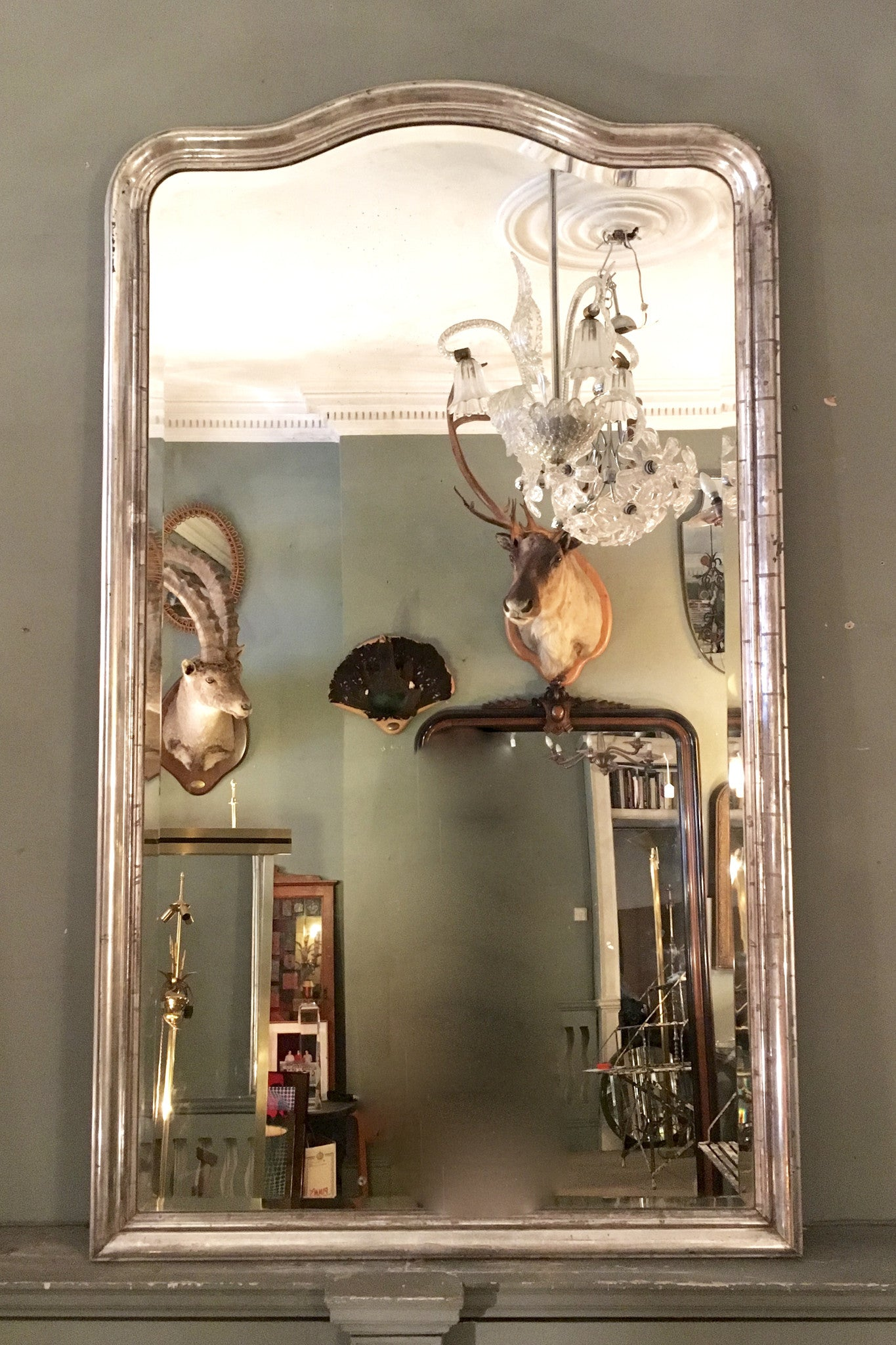 X Large Silver Mirror