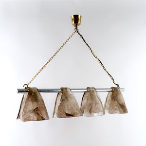 Italian 1970's Murano glass hanging light .