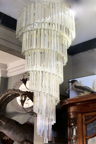 X  Huge spiral Venini crystal Chandelier