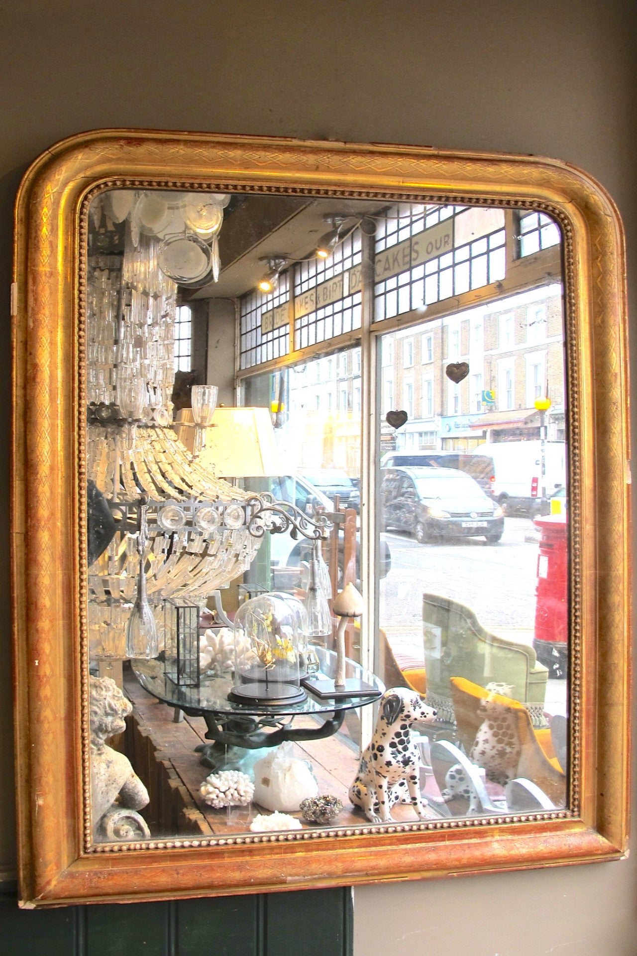 Large french gilt  Mirror circa 1890.