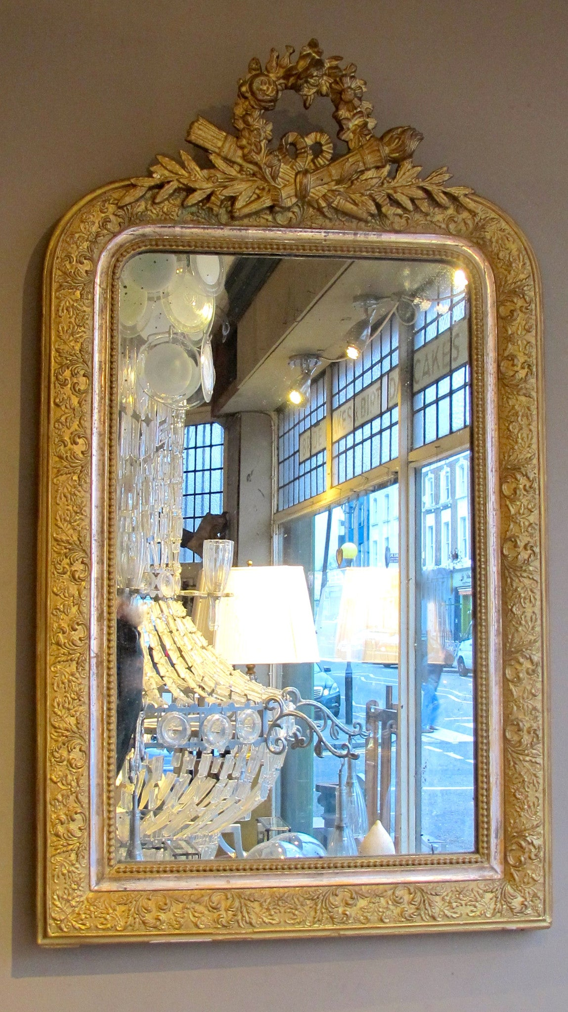 X Louis Philippe Gilded Mirror