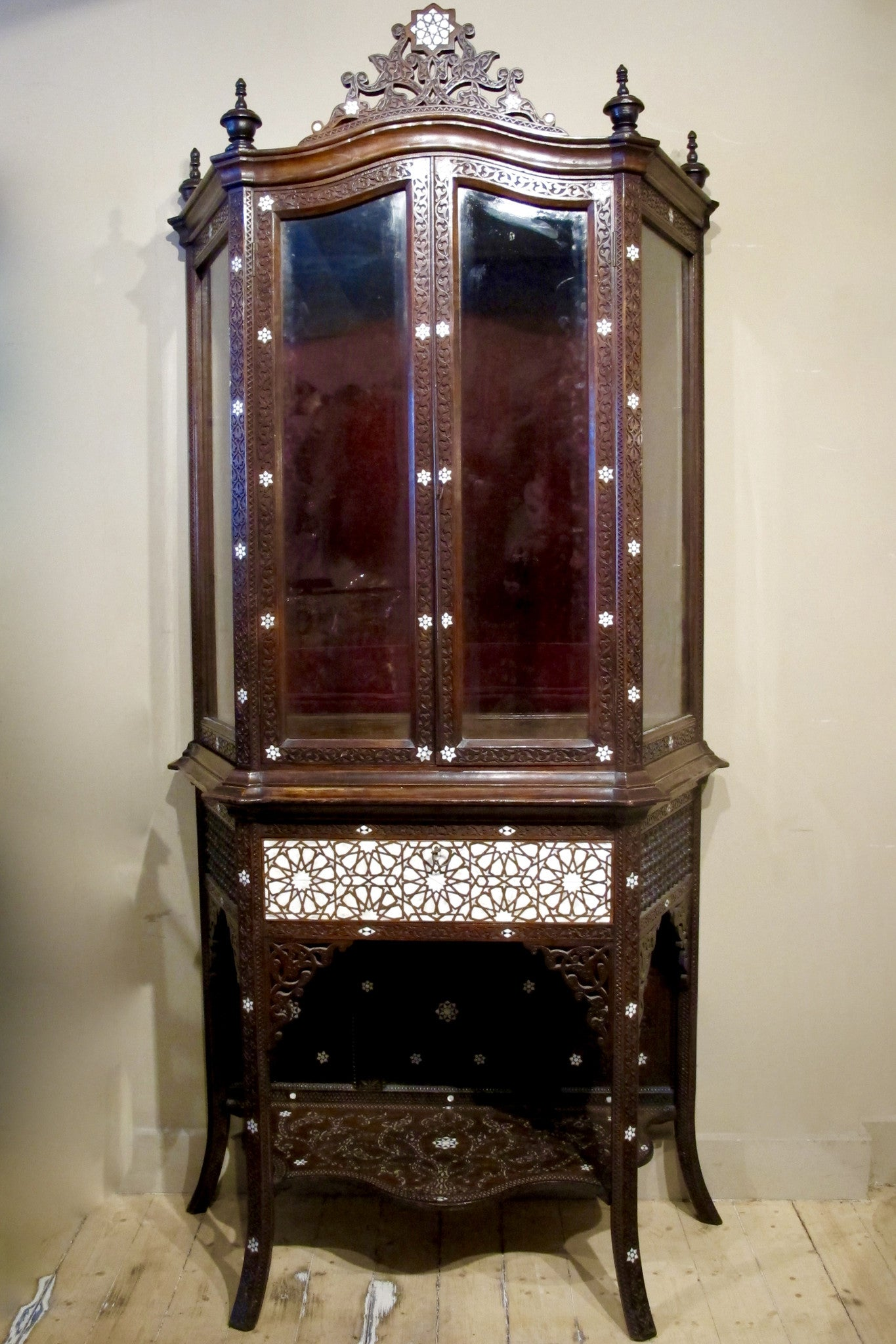 X Early 20th century moorish cabinet