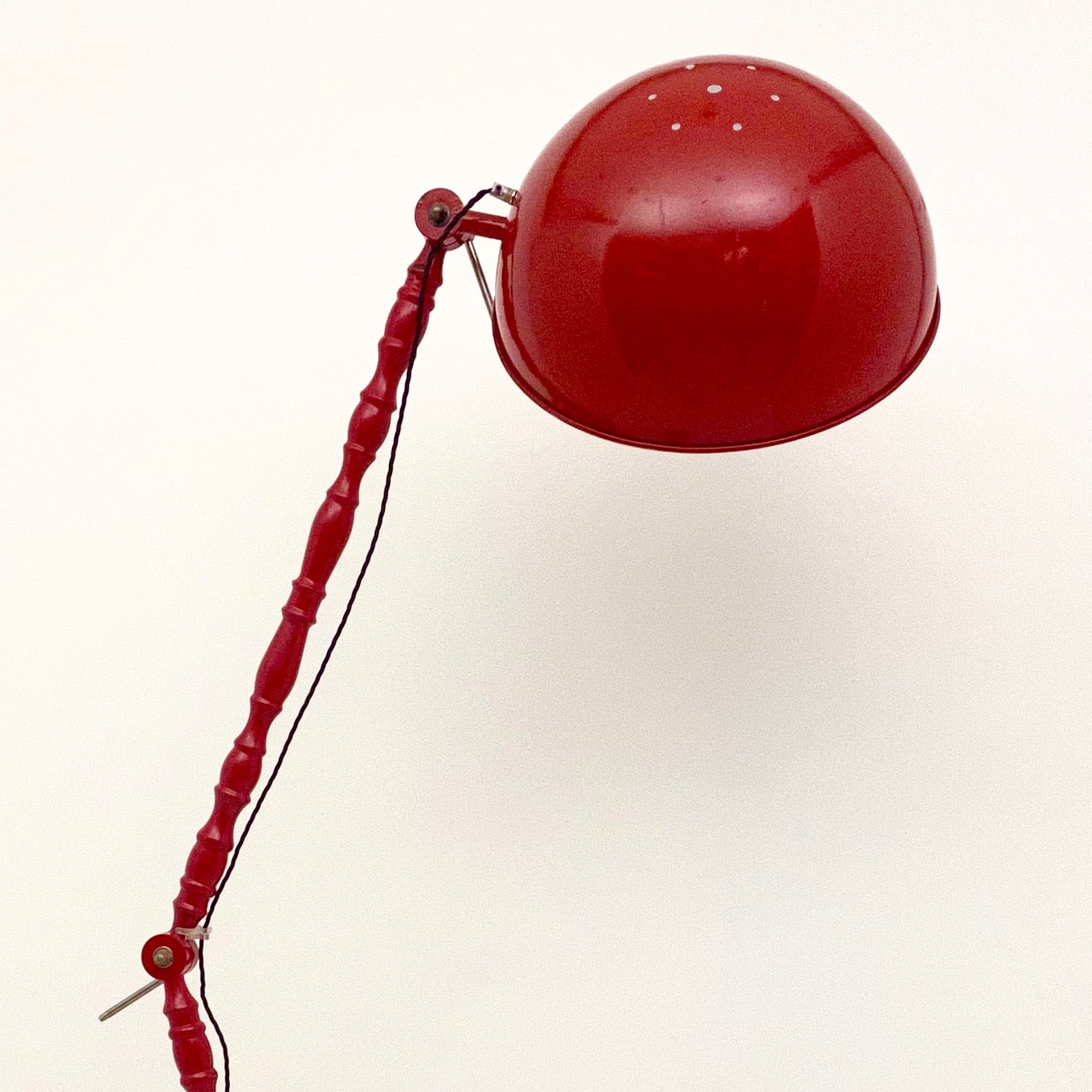 Gigantic vintage red anglepoise style floor lamp .