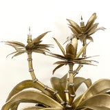 1970's palm tree table lamp attributed to maison Jansen.